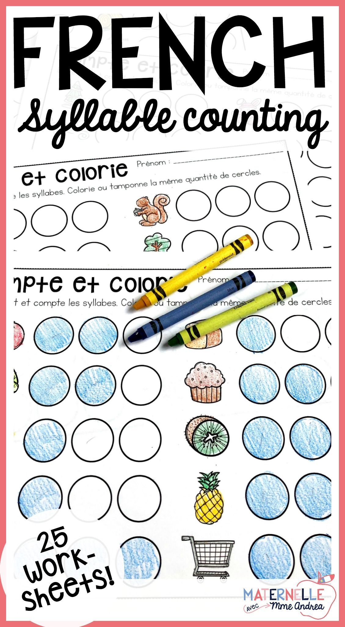 French Syllable Worksheets Compter Les Syllabes Syllable Worksheet First Grade Lessons Syllable