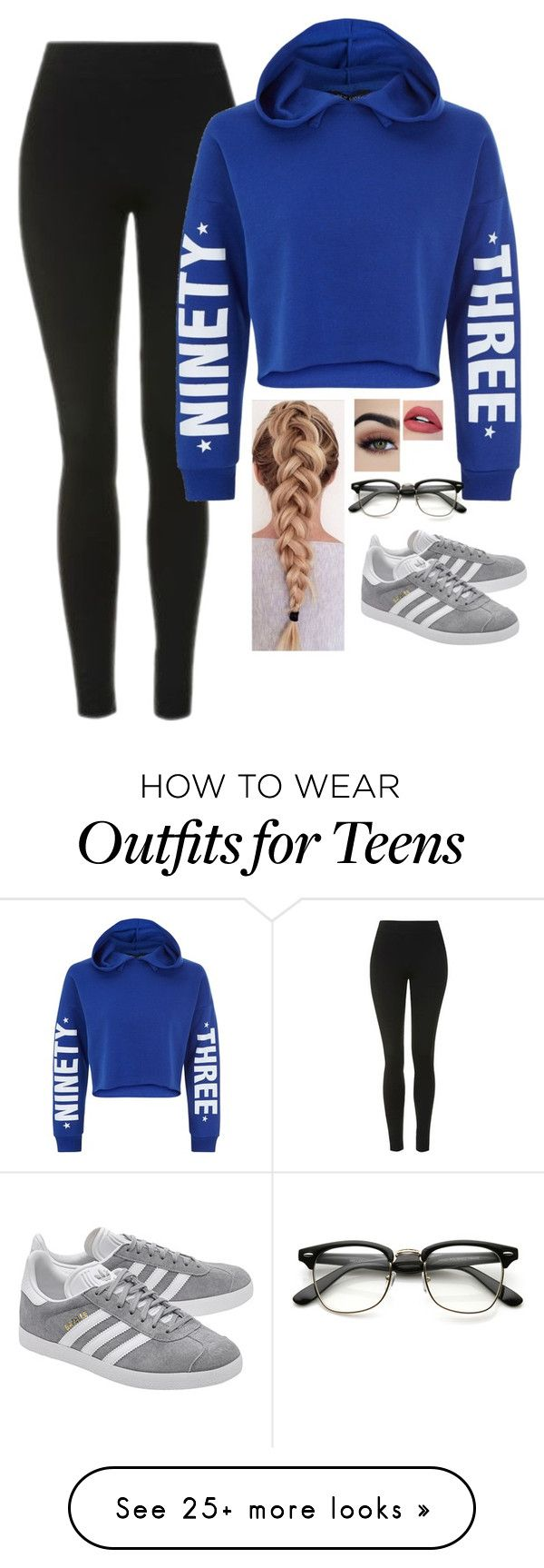 """Untitled #1445"" by malfoys-princess on Polyvore featuring Topshop, New Look and adidas Originals"