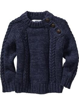 Cable-Knit Shoulder-Button Sweaters for Baby | Old Navy