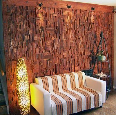 Wooden Block Panels By Canadian Designer Olga Oreshyna Diy Wood Wall Decor Wood Slat Wall