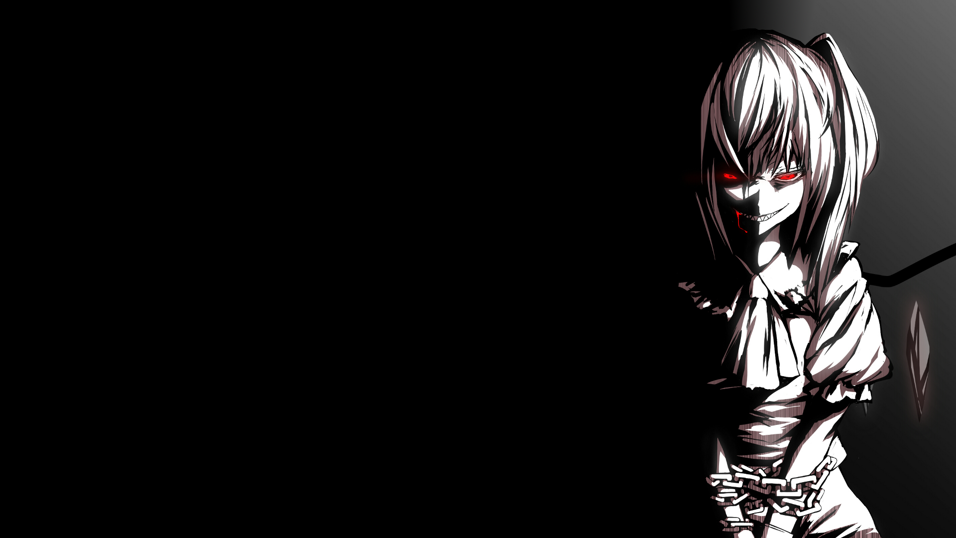 Creepy anime wallpaper wide