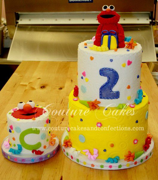 Custom Elmo Themed Birthday Cake Smash Cake Birthday Cakes