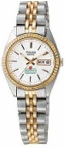 Pulsar Women's Traditional 2 Tone Collection Watch w/ Silver Tone Sunray Dial (#PXX006)