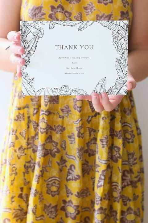 Illustrated Thank You card's for Australian photographer Sari Rose Sharpe.