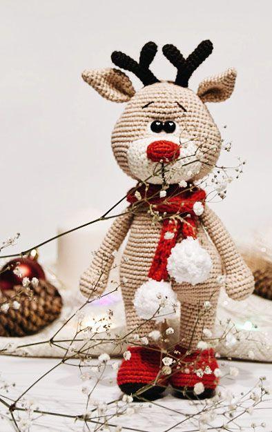 Reindeer crochet tutorial / PATTERN deer Amigurumi / Christmas animal pattern