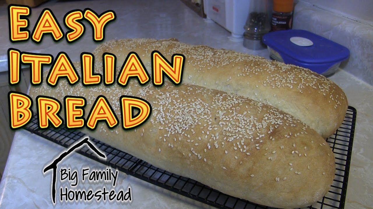 EASY Italian Bread - YouTube in 2019 | Bread machine ...