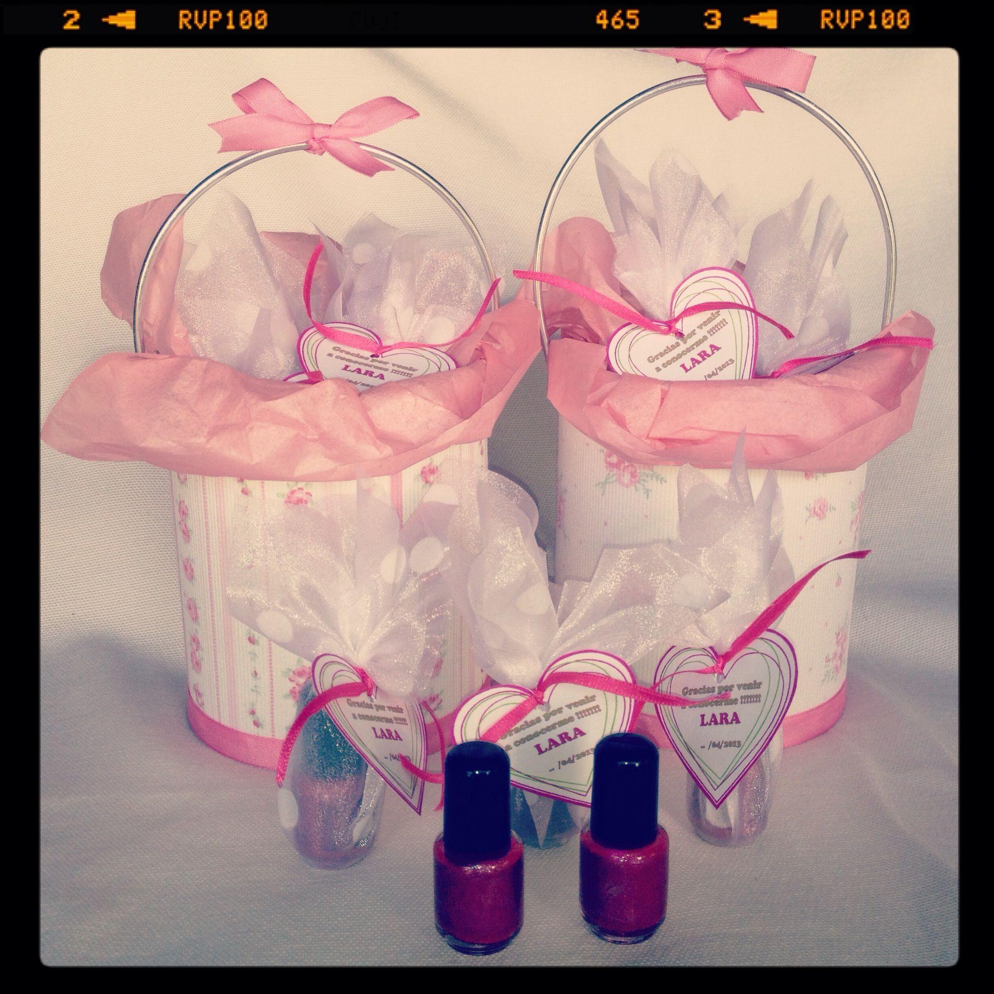 Souvenirs para nacimiento ! Mini esmaltes para uñas ! | Baby Shower ...