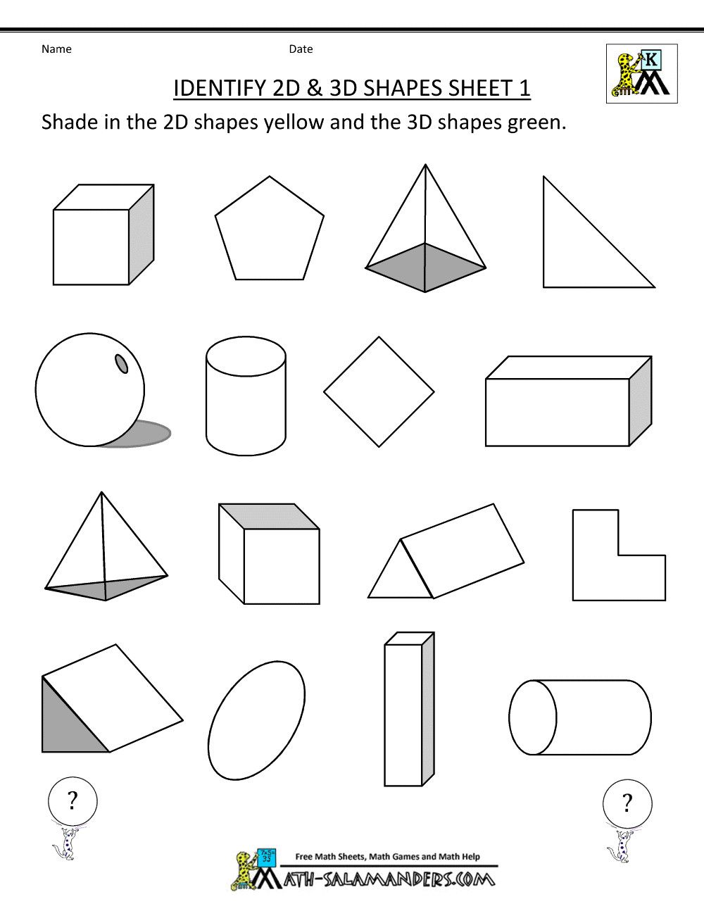 5 Free Math Worksheets First Grade 1 Geometry Draw 2d Shapes Classify And Rize Worksheets F In 2020 Shapes Worksheet Kindergarten Shapes Worksheets Shapes Kindergarten