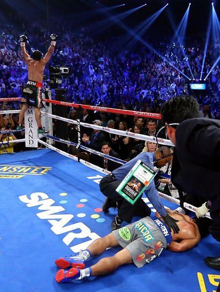Nunca vi un KO tan impresionante y fulminante.
