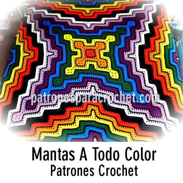 Patrones de mantas crochet paso a paso manta esquemas - Patrones de mantas a crochet ...