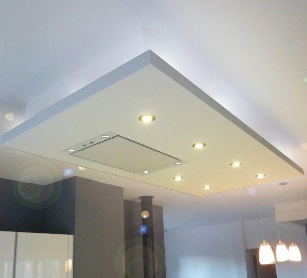 Faux plafond bois cuisine faux plafond cuisine for Faux plafond platre salon
