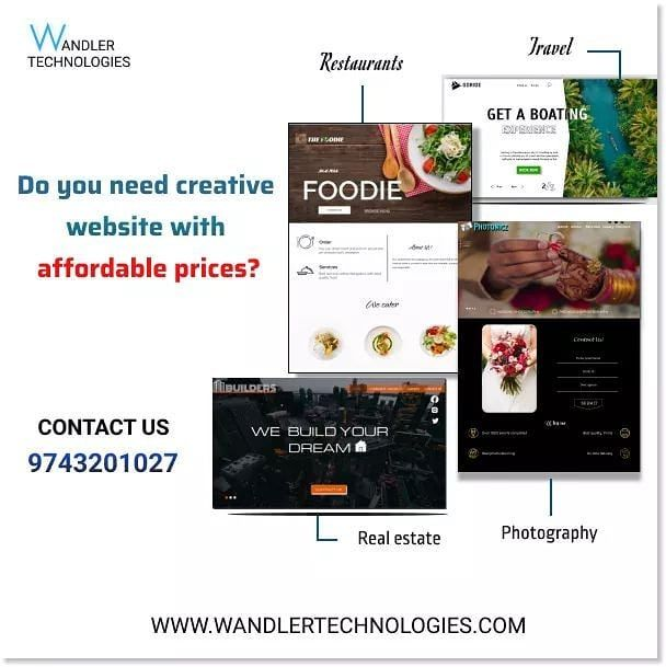Wandler Technologies Is A Website Developement Company In Bangalore Contact Us For More Details Website Bangalorestartu In 2020 Website Design Website Technology