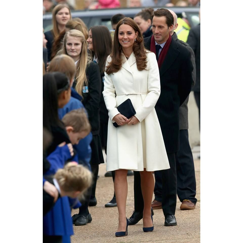 The choice of Royalty. The Duchess of Cambridge looking wonderfully elegant in our Max Mara Studio Coat.