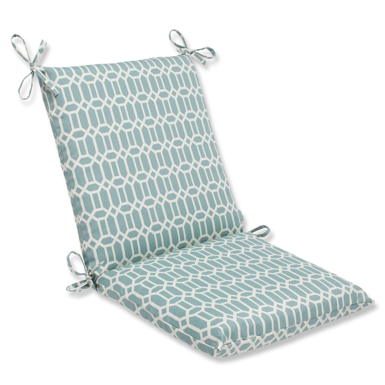 Pillow perfect outdoor rhodes quartz squared corners chair cushion