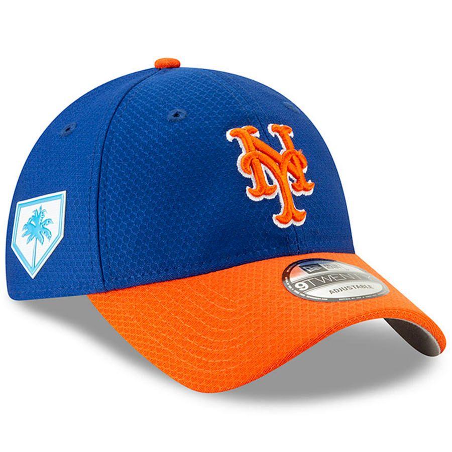 87ad3014abbae Men s New York Mets New Era Royal Orange 2019 Spring Training 9TWENTY Adjustable  Hat