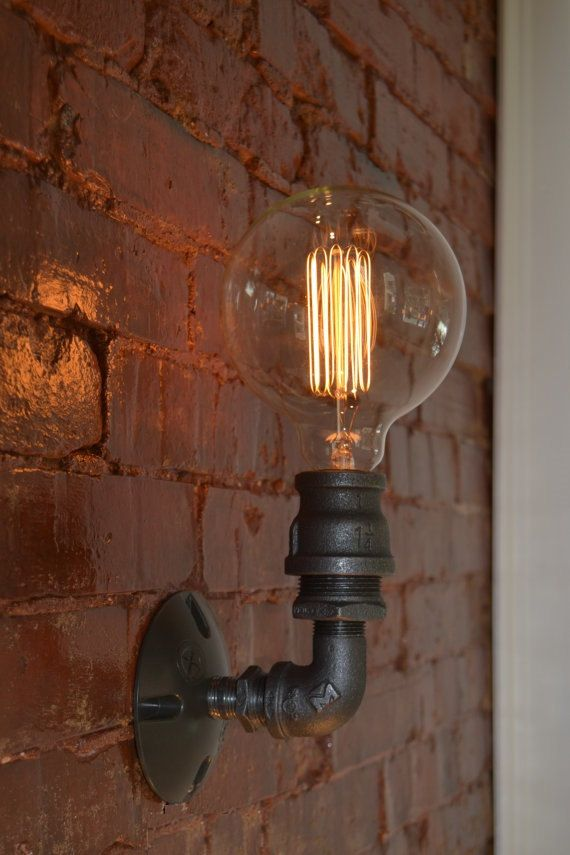 wandlampe wandleuchte industrial wandleuchte von westninthvintage so sachen. Black Bedroom Furniture Sets. Home Design Ideas