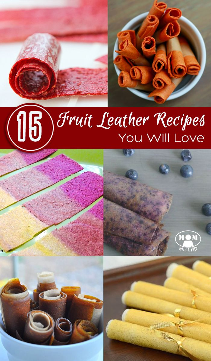 15+ Mouthwatering Fruit Leather Recipes your kids will love, and great tips to make your processing easier! Great for after school snacks and lunches without the added sugars and chemicals. Some combinations may surprise you!