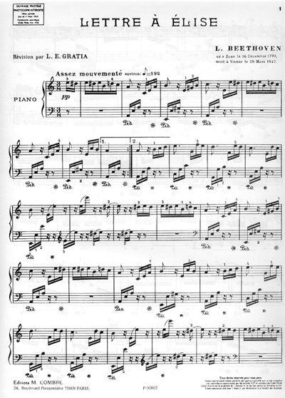Lettre A Elise Partition Piano Facile Partition Piano Facile Piano Partition Musique
