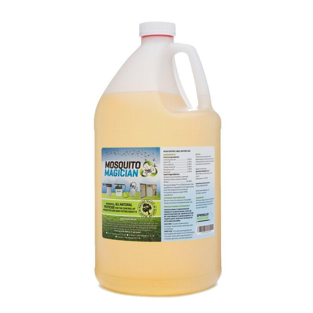 Mosquito Magician 1 Gal Natural Mosquito Repellant Concentrate 514mmg1 The Home Depot Natural Mosquito Repellant Mosquito Repellent Pest Control