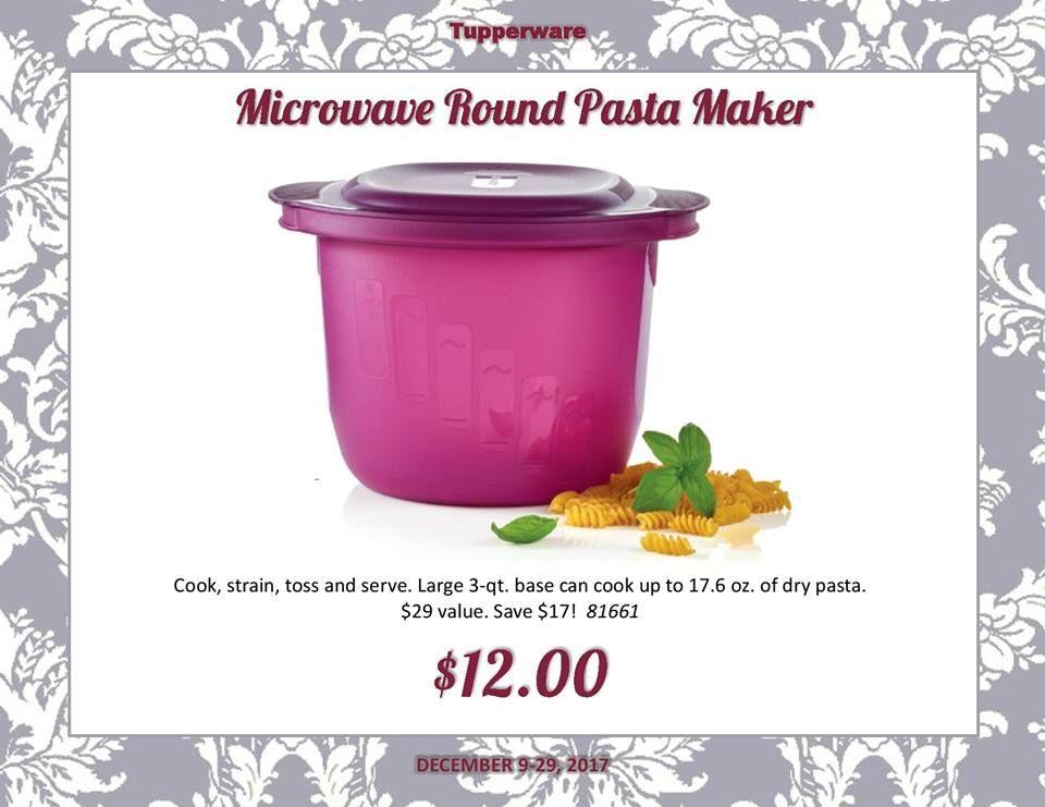 tupperware microwave round pasta maker
