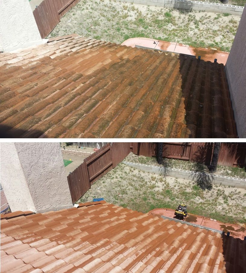 Tile Roof Cleaning Roof Cleaning Pressure Washing Services Roof