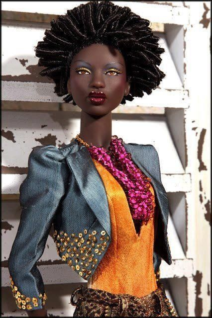 Black Barbie has been to THE SHOP! Go BB!