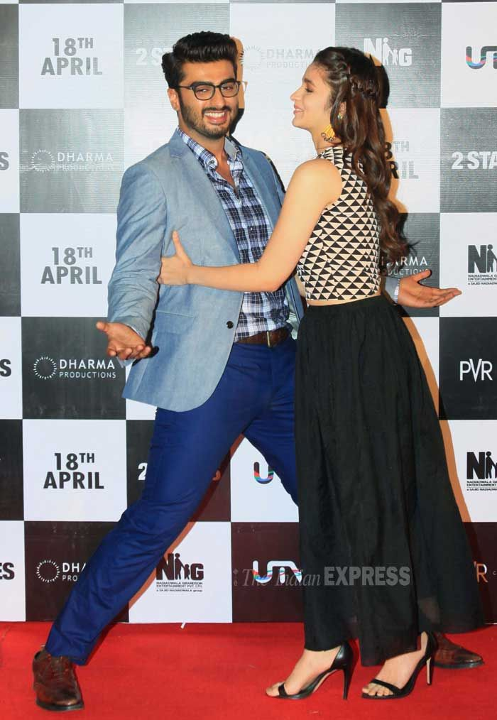 Alia Bhatt And Arjun Kapoor At The Launch Of 2 States Trailer