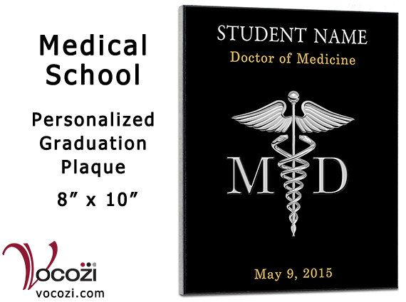 Medical School Graduation Gift Personalized 8 X 10 By Vocozi David