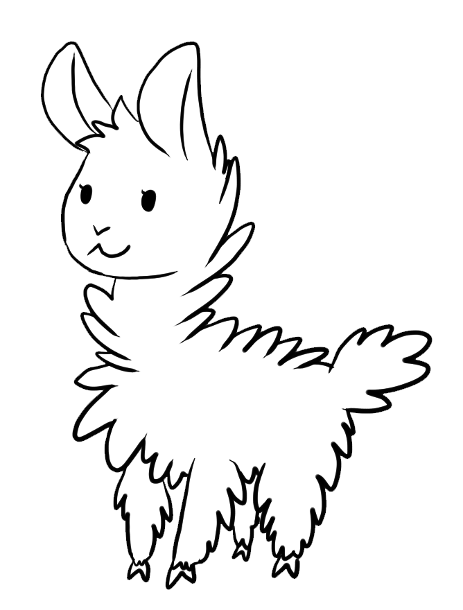 alpaca coloring pages.html