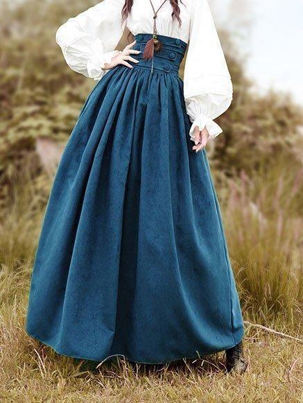 Co Casual Drawstring Vintage Skirt -   18 vintage dress Fashion ideas
