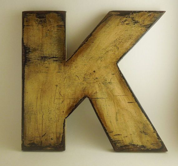 Wooden letters made from reclaimed plywood by KingstonCreations, $25.00