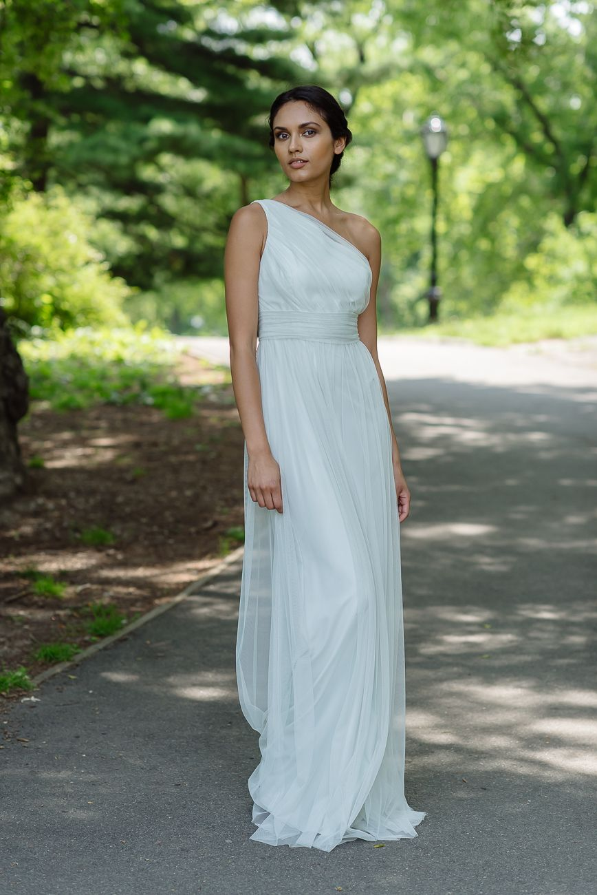 Amsale Bridesmaids Tulle Dress in Mint - G948U. | woman looks ...