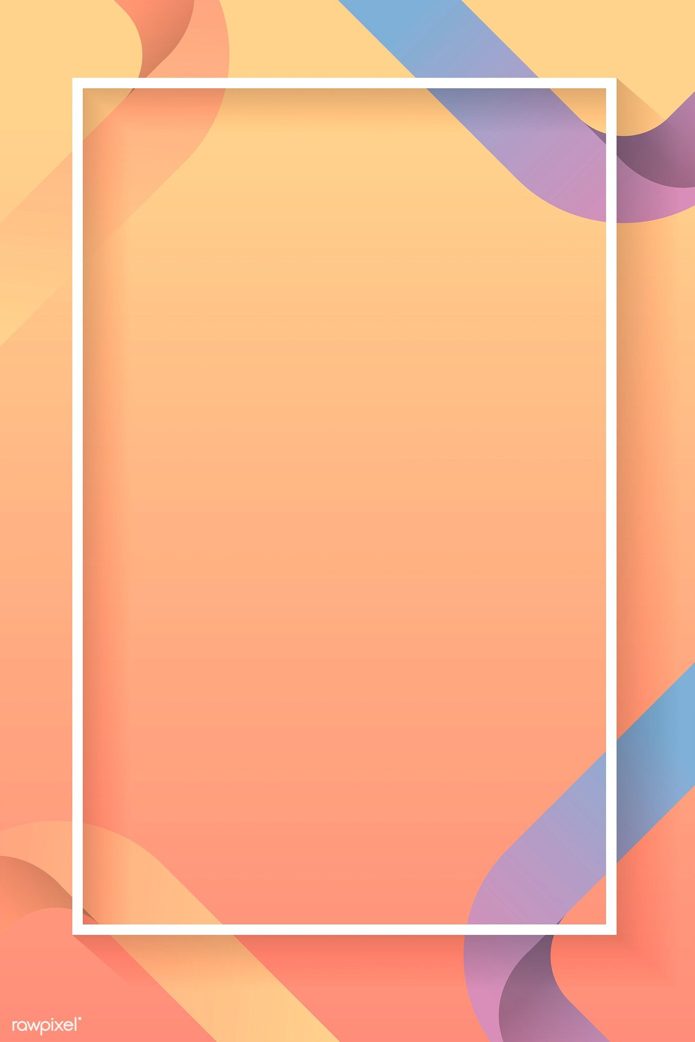 Download Premium Vector Of Blank Rectangle Colorful Abstract Frame