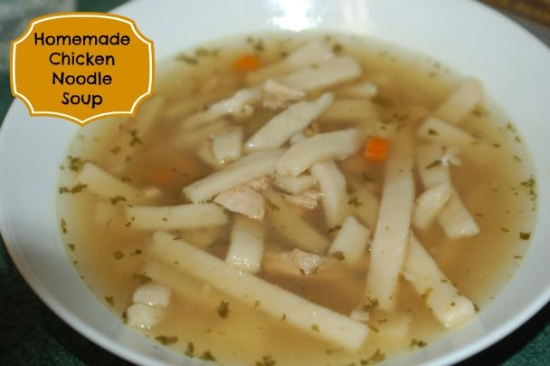 Easy Homemade Chicken Noodle Soup Recipe Clean Eating Pinterest