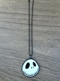 Disney Nightmare Before Christmas Shotbead Necklace 2 Sided Jack New Free Shipping