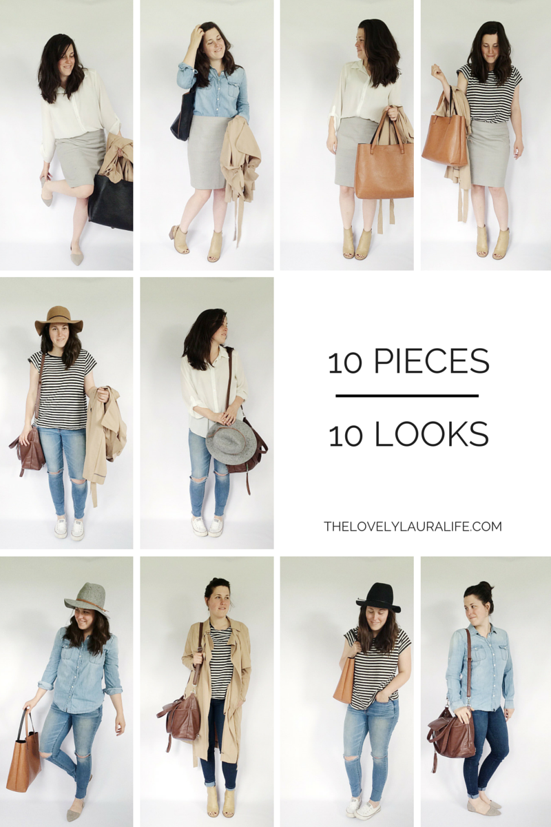 10 X 10 Spring Challenge Looks Capsule Wardrobe Outfits Fashion Capsule 10 Piece Wardrobe