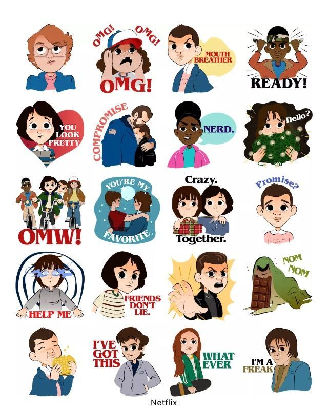 Facebook has Stranger Things stickers now! #strangerthings #strangerdanger