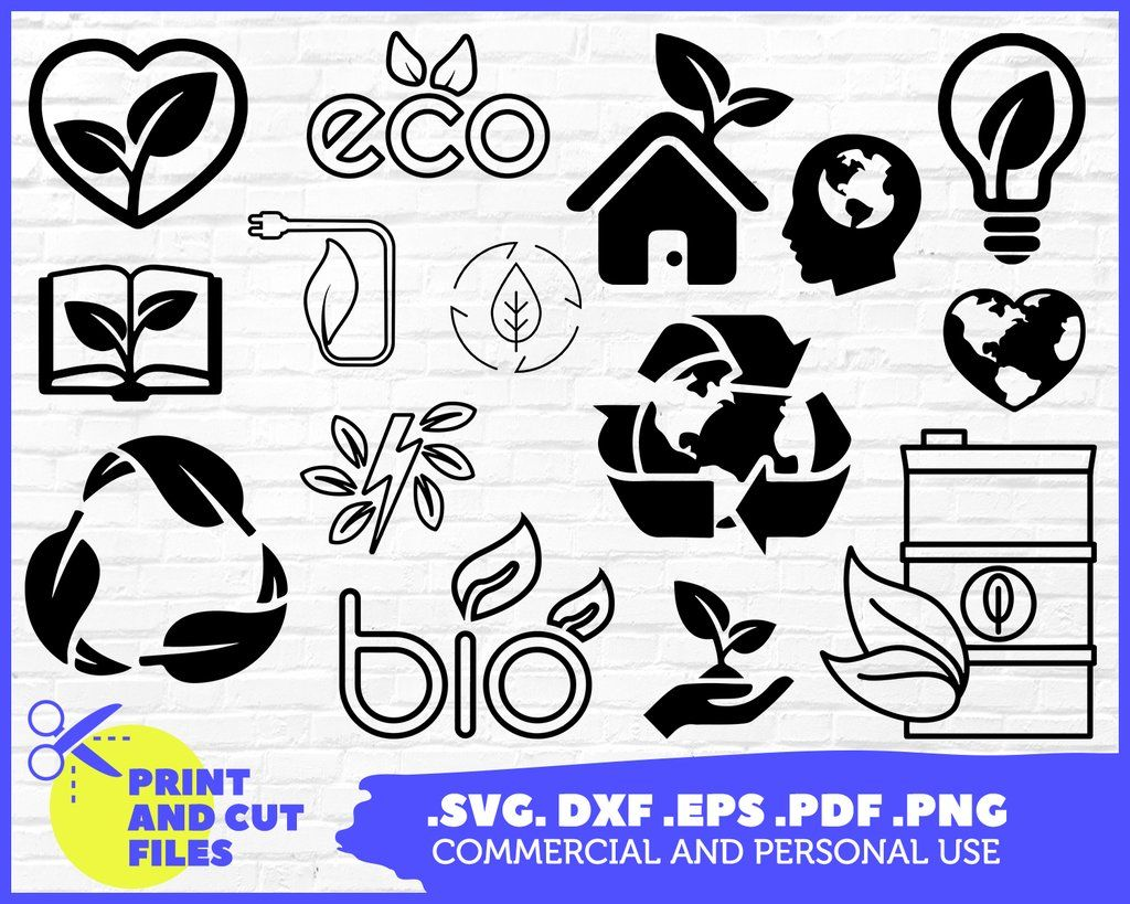 Ecology Svg Bio Environment Recycling Biohazard Clipart Silhouette