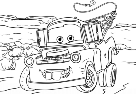 Mater Coloring Page Printable | Disney Coloring Pages | Pinterest