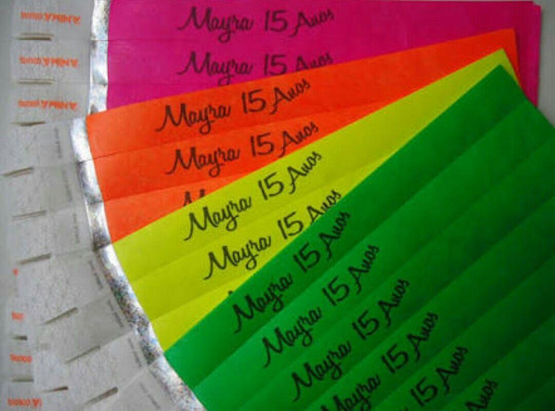 Ideias Para Convite De 15 Anos: Pulseira Convite 15 Anos Neon Balada