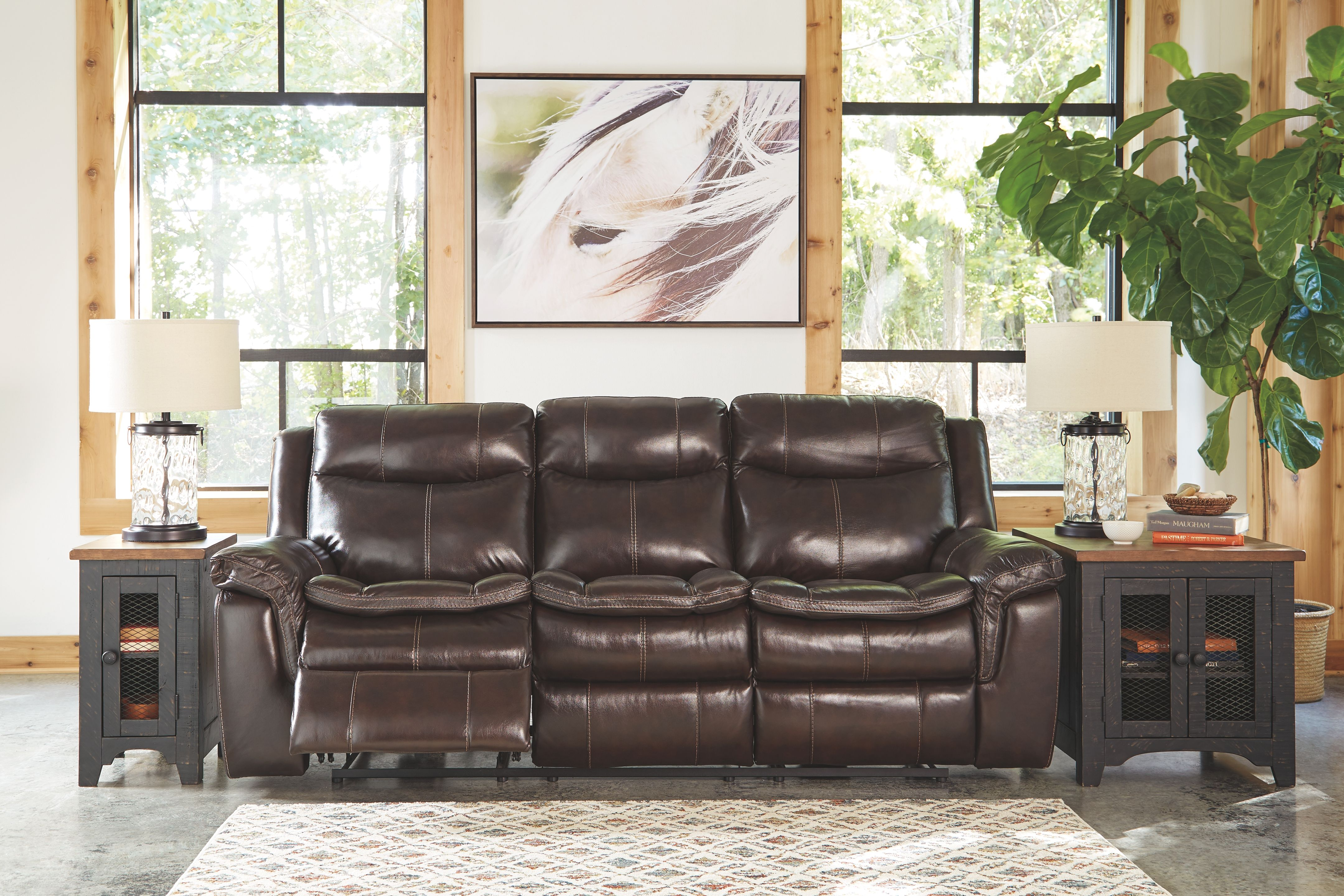 Lockesburg Power Reclining Sofa Canyon Leather In 2020 Recliner