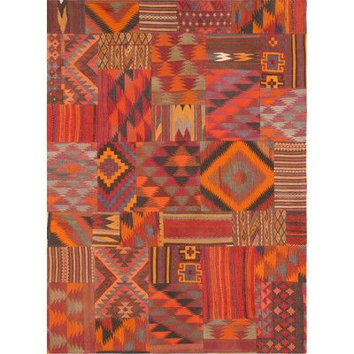 Pasargad Patchwork Hand-Woven Area Rug Rug Size: