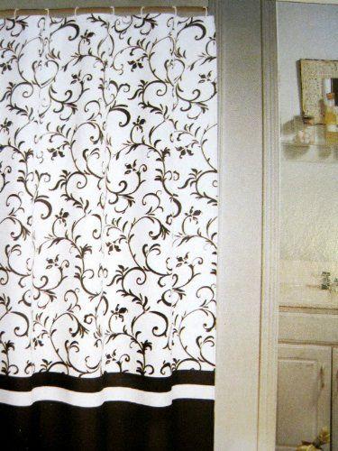 Pin By Babu Riba On Reno Bathroom Black Shower Curtains Fabric