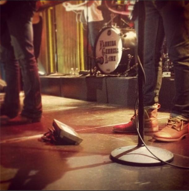 "#SPOTTED: Florida Georgia Line's @hi_imtom rocking his ""Morrison"" boots on Jimmy Fallon last night! @flagaline @fallontonight #catboots"