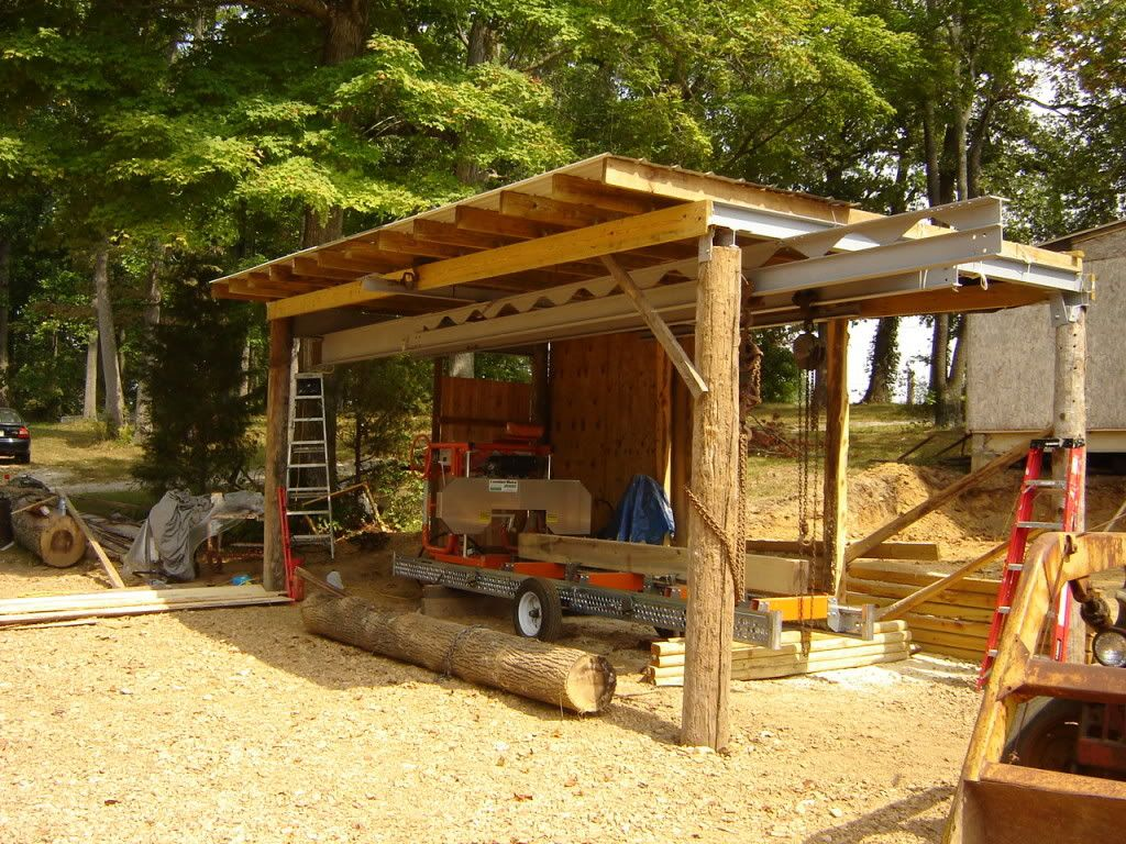 Also building a sawmill shed portable sawmills for Build a barn online