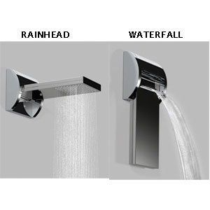 Jaclo 1728BSS Brushed Stainless Steel Bathroom Faucets Waterfall Or  Drenching Stainless Steel Shower Head By Jaclo