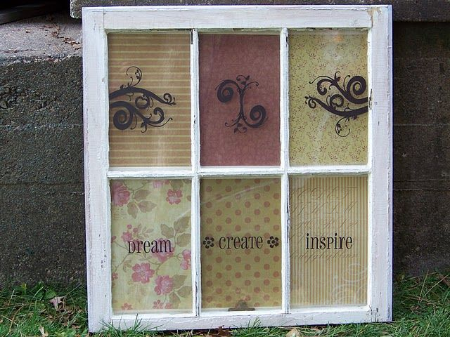 Trash To Treasure Decorating Vintage Window Tranformation Window Crafts Vintage Windows Vintage Window Decor