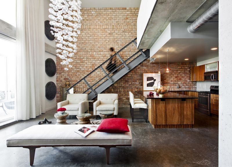 lounge kitchen area victory lofts channelside tampa fl by