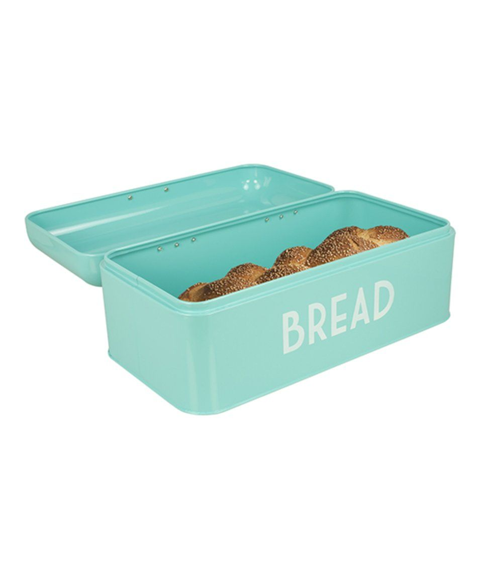 Turquoise Bread Box Take A Look At This Home Basics  Turquoise Bread Box Today