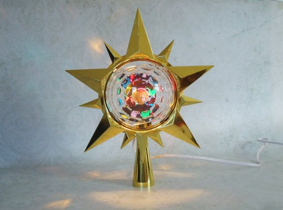 Vintage Bradford Celestial Star Tree Topper by SwirlingOrange11, $138.00 - Vintage Bradford Celestial Star Tree Topper, Mod Disco Light Tree